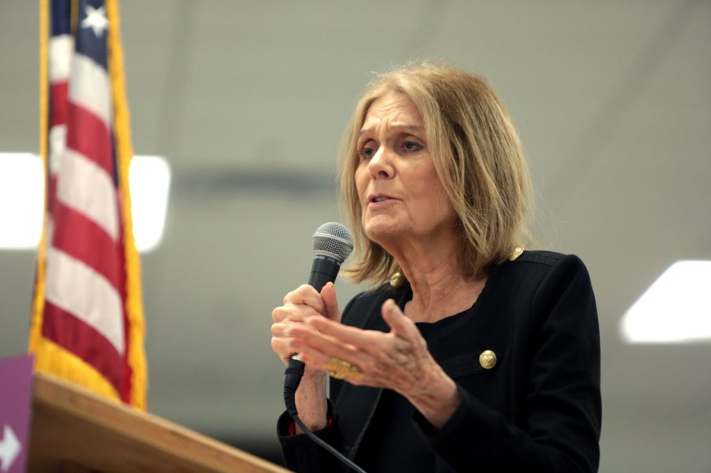 Gloria Steinem speaking with supporters at the Women Together Arizona Summit in Phoenix, Arizona in 2016.