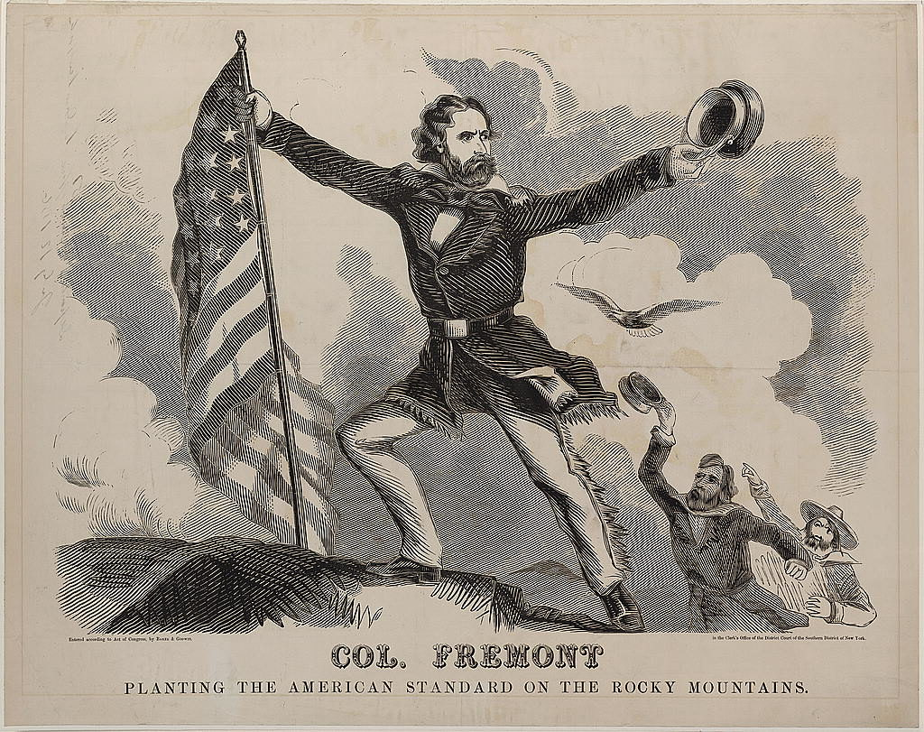 An election poster for John Fremont. He was the presidential nominee  in 1856 for the newly formed Republican party.