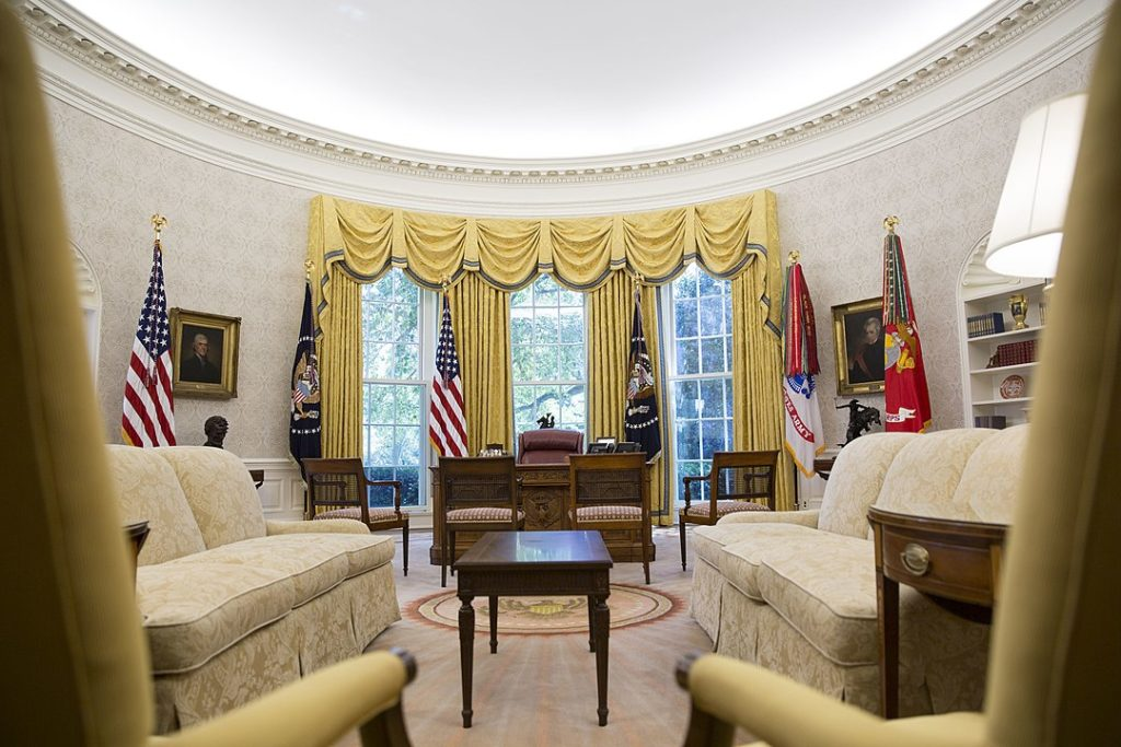 A view of the Oval Office.