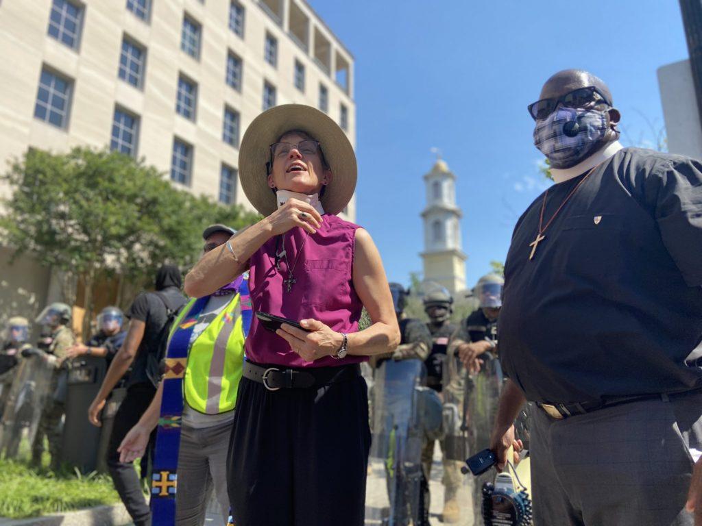 Bishop Mariann Budde at a vigil in Washington, D.C. on June 3rd.