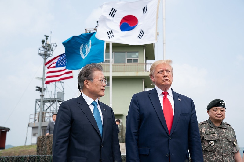 President Trump tours the Korean Demilitarized Zone on June 30, 2019.