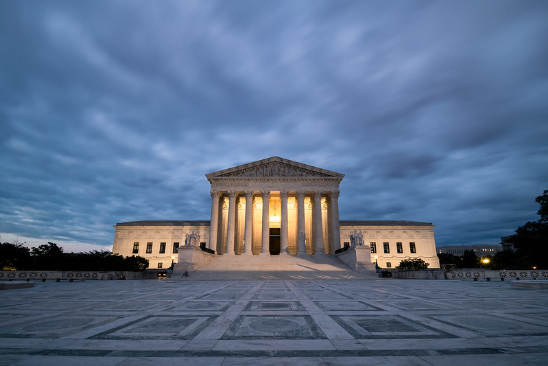 A picture of the U.S. Supreme Court from June 18, 2020. President Trump has nominated Amy Coney Barrett to fill the seat left open following the death of  Justice Ruth Bader Ginsburg.