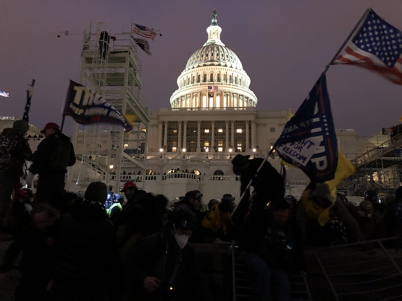 The U.S. Capitol after Trump rioters stormed the building earlier in the day.