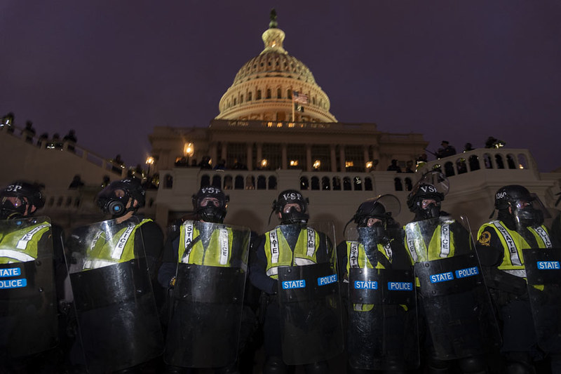 The U.S. Capitol on the evening of January 6th. Congressional hearings into security lapses and intelligence failures started this week.