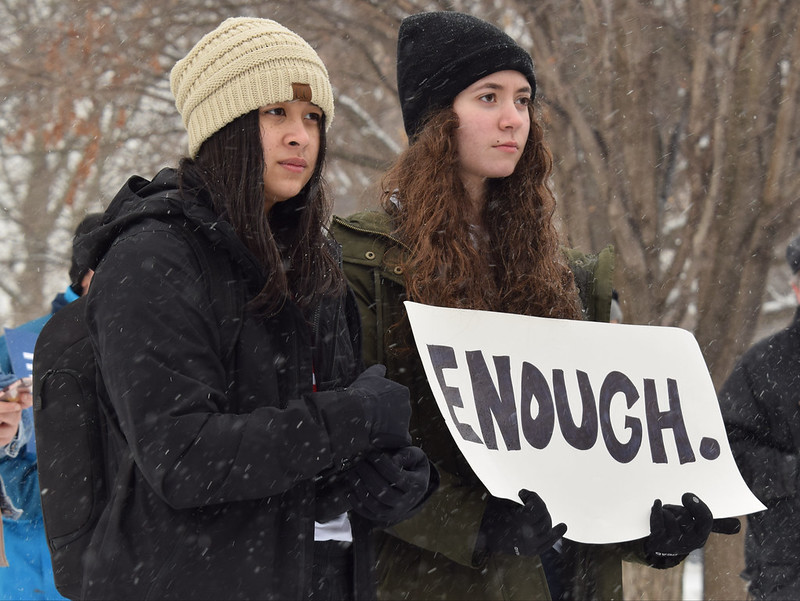 "On March 24, 2018, children across the country participated in the ""March For Our Lives"" rally, calling for an end to gun violence."