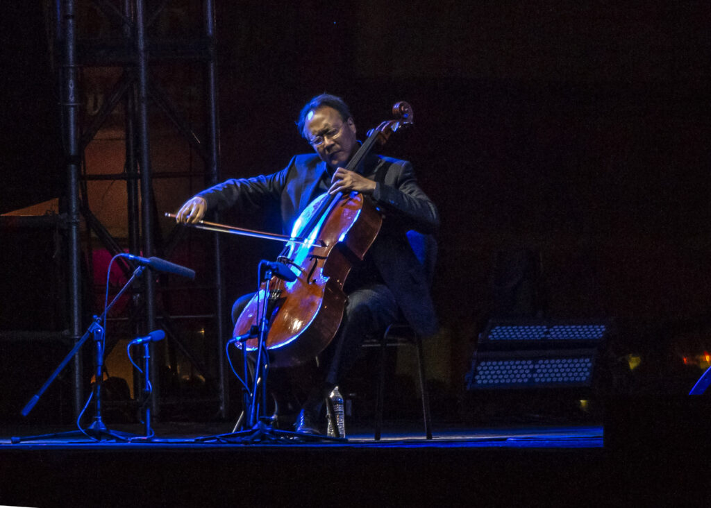 Cellist Yo-Yo Ma performs Bach suites in Mexico City in March 2019. In 2007 he joined Diane on The Diane Rehm Show, where he discussed his belief in the power of music to create connections across borders and backgrounds.