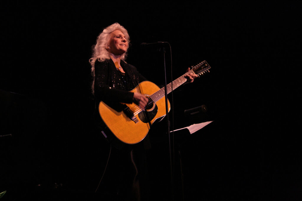 Singer-songwriter Judy Collins performs a concert in December 2009.