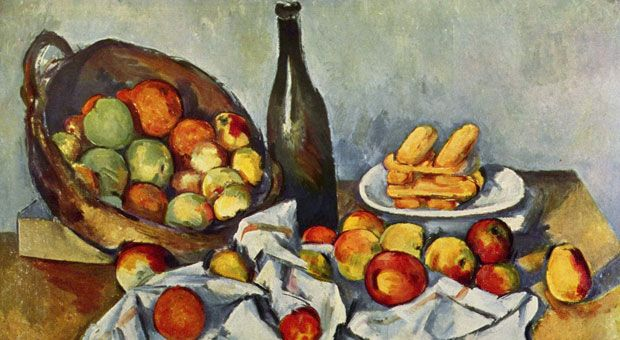 Still life painting by Paul Cézanne