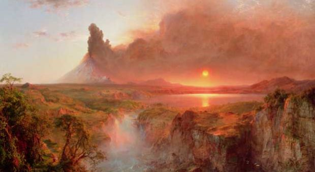 Frederic Edwin Church, Cotopaxi, 1862, oil on canvas, Detroit Institute of Arts, Founders Society Purchase, Robert H. Tannahill Foundation Fund, Gibbs-Williams Fund, Dexter M. Ferry Jr. Fund, Merrill Fund, Beatrice W. Rogers Fund, and Richard A. Manoogian Fund. The Bridgeman Art Library