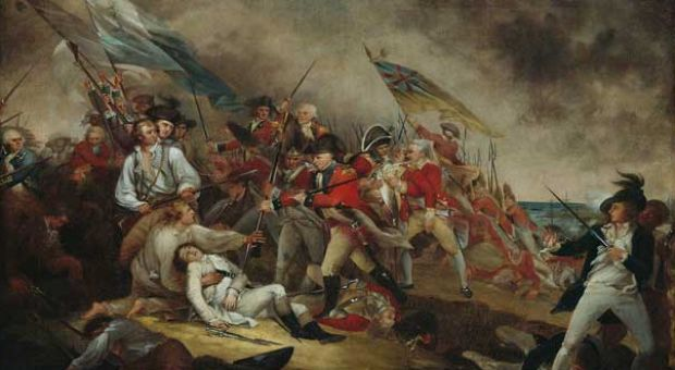 The Death of General Warren at the Battle of Bunker's Hill, June 17, 1775.