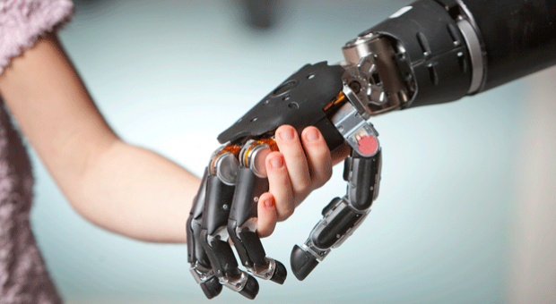 The Modular Prosthetic Limb (MPL), developed by the Johns Hopkins University Applied Physics Laboratory with funding from the Defense Advanced Research Projects Agency provides 26 degrees of motion, including independent movement of each finger, in a package that weighs about nine pounds and has the dexterity of a natural limb.