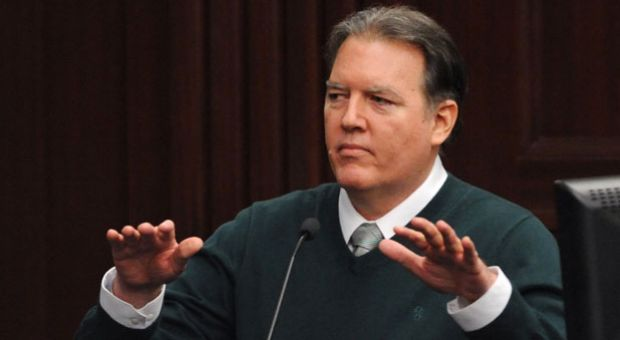 Michael Dunn, takes the stand in his own defense during his trial in Jacksonville, Fla., Tuesday, Feb. 11, 2014. Dunn is charged with fatally shooting 17-year-old Jordan Davis after an argument over loud music outside a Jacksonville, Fla. convenient story in 2012.
