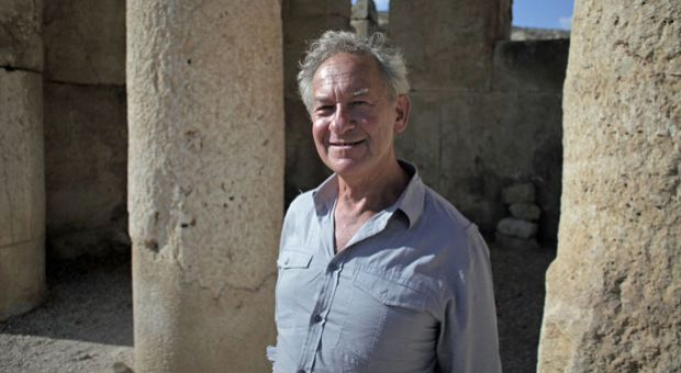 "Simon Schama, author of ""The Story of the Jews,"" at Iraq-el Amir, Jordan."