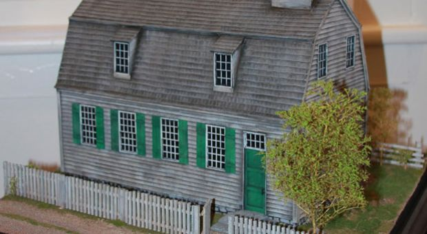 """In 2010, the Cornwall Historical Society mounted an exhibition on the Foreign Mission School. It included this scale model of its """"Academy building."""""""