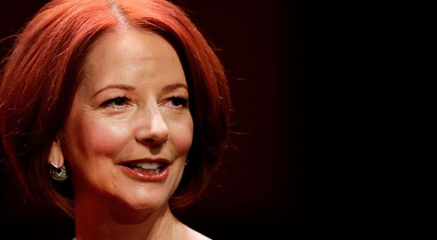 Former Australian Prime Minister Julia Gillard poses for a photo ahead of the inaugural 'Anne Summers Conversations Session' at the Sydney Opera House on September 30, 2013 in Sydney, Australia.