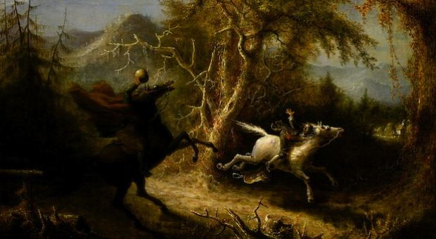 """John Quidor - Headless Horseman Pursuing Ichabod Crane - Smithsonian"" by John Quidor."