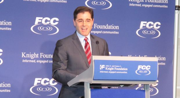 FCC Chairman Julius Genachowski addresses America's Digital Inclusion Summit at The Newseum, March 9, 2010.