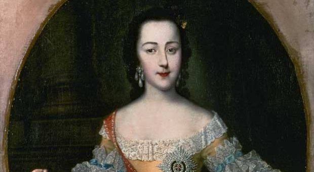Portrait of Grand Dutchess Ekatrina Alekseyevna, later Catherine II, c. 1745 by Georg Christoph Grooth (1716-49)