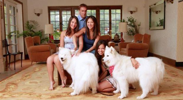 Author Amy Chua and family