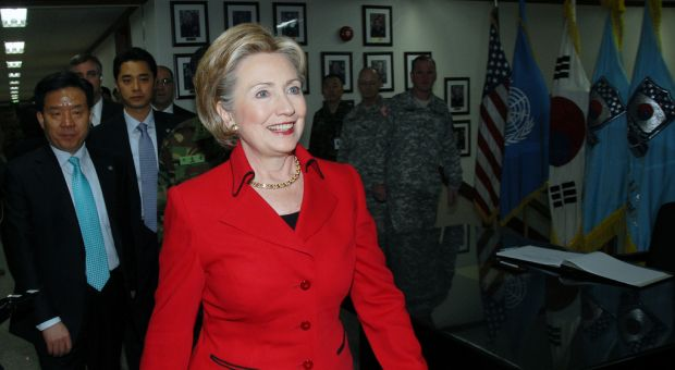 Secretary of State Hillary Rodham Clinton visits United States Army Garrison (USAG) Yongsan, Seoul, South Korea, Feb. 20, 2009