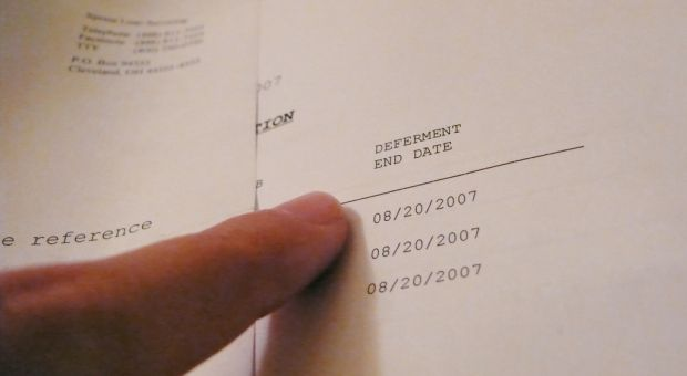 Student loan papers