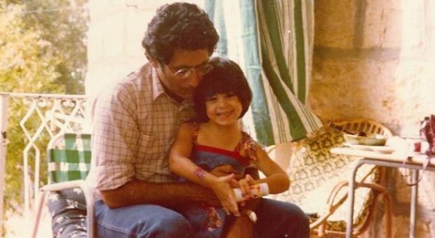 Najla Said with her father.