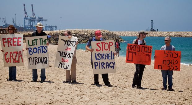 Protesters at Ashdod Port