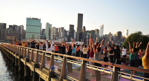 "The Yoga Room's ""Yoga For New York"" program, October 2009"